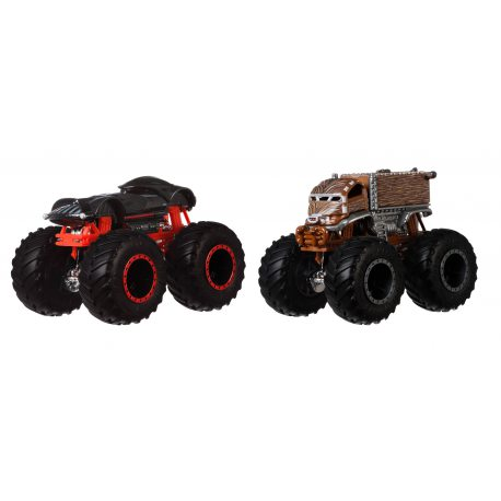 Hot Wheels Monster Trucks - Metalowe Pojazdy Dwupak Star Wars Darth Vader vs Chewbacca GBT67