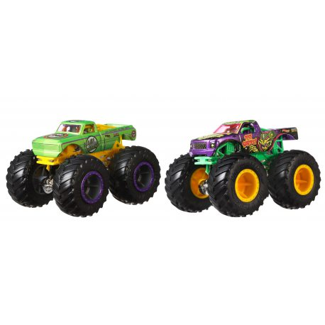 Hot Wheels Monster Trucks - Metalowe Pojazdy Dwupak A51 Patrol vs Test Subject GJF67