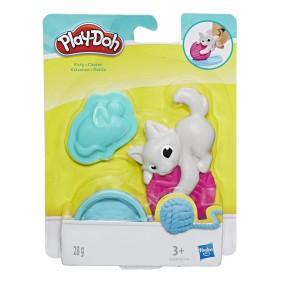Play-Doh - Ciastolina Mini zwierzątko Kotek z akcesoriami i tubą E2237