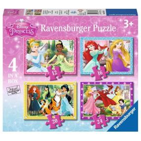 Ravensburger - Puzzle Księżniczki Disneya 4w1 12/16/20/24 elem. 073979