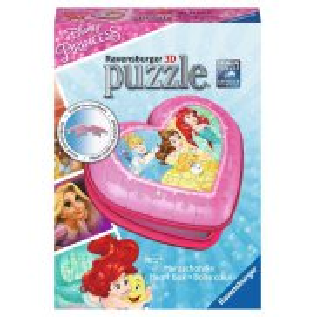 Ravensburger - Puzzle 3D Księżniczki Disneya Pudełko Serce 54 elem. 121144
