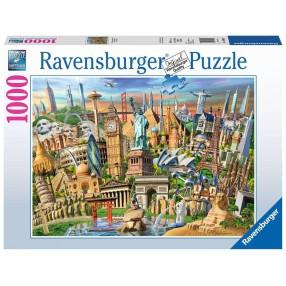 Ravensburger - Puzzle Światowe zabytki 1000 elem. 198900