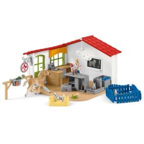 Schleich - Klinika weterynaryjna ze zwierzętami 42502