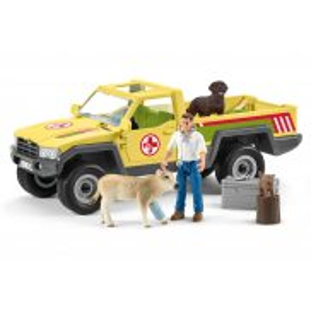 Schleich - Samochód weterynarza na farmie 42503