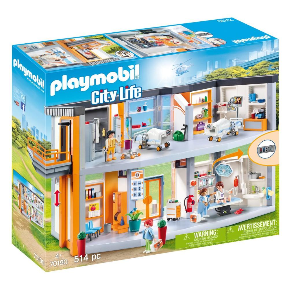 Playmobil - Duży szpital z wyposażeniem 70190
