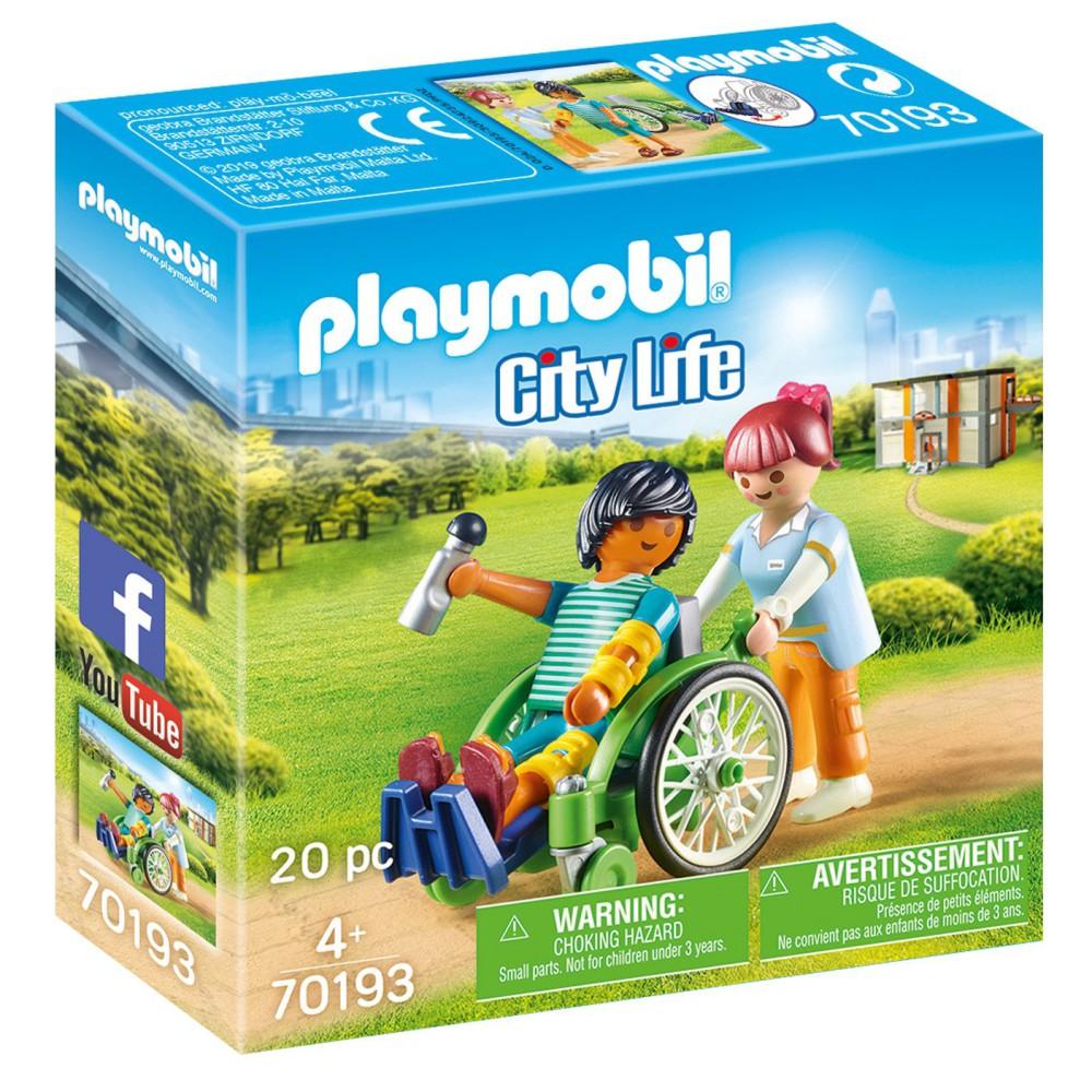Playmobil - Pacjent na wózku inwalidzkim 70193