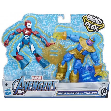Hasbro Avenders Bend and Flex - Figurka 15 cm Iron Patriot i Thanos E9197