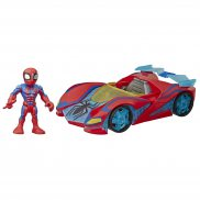 Hasbro Marvel Super Hero Adventures - Figurka i pojazd Spider-Man Web Racer E7932