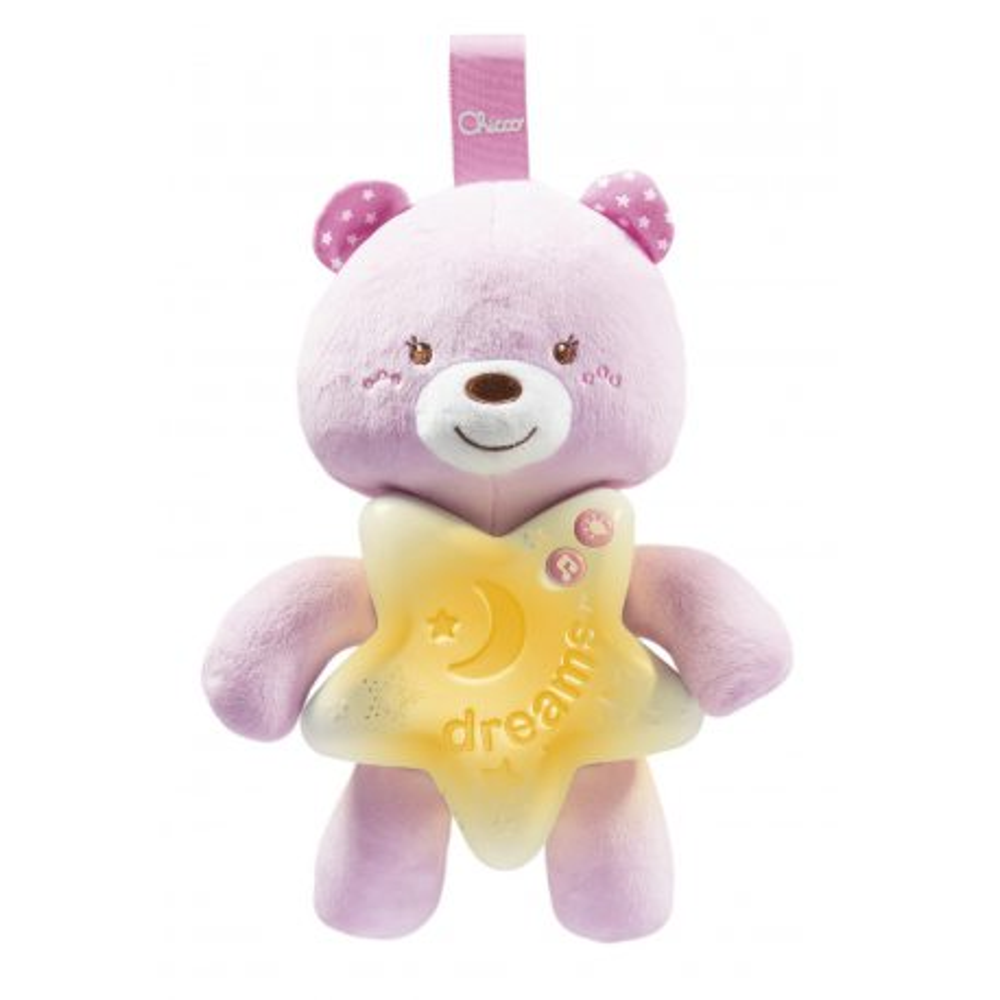 Chicco First Dreams - Miś na dobranoc Różowy 91561