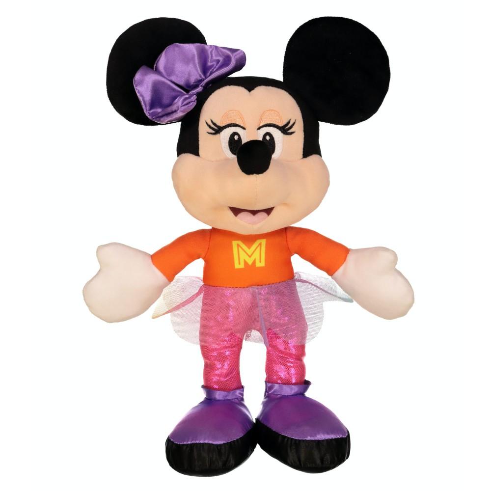 Disney - Maskotka Myszka Minnie w pomarańczowo-różowym stroju 25 cm 180307
