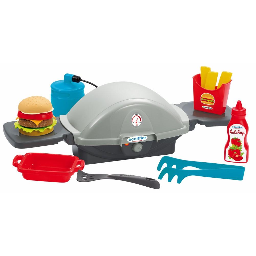 Ecoiffier - Zestaw grillowy Grill + Akcesoria 4665