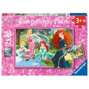 Ravensburger - Puzzle Disney Princess W świecie księżniczek 2 x 12 elem. 076208