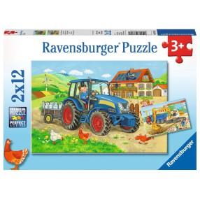 Ravensburger - Puzzle Ciężka Praca 2 x 12 elem. 076161