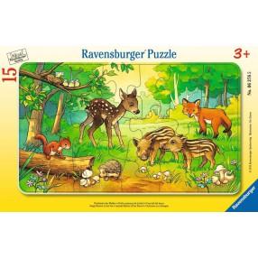 Ravensburger - Puzzle Zwierzątka z lasu 15 elem. 063765