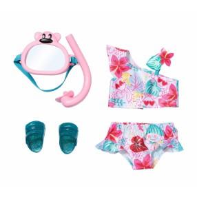 BABY born - Zestaw ubranko plażowe dla lalki 43 cm Bikini + Akcesoria 829240