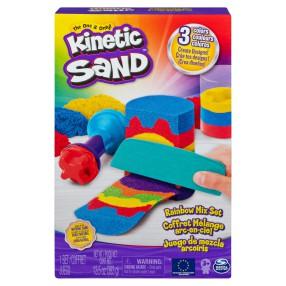 Kinetic Sand - Piasek kinetyczny Zestaw Tęczowych narzędzi 386g 6053691