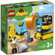 LEGO DUPLO - Ciężarówka i koparka gąsienicowa 10931
