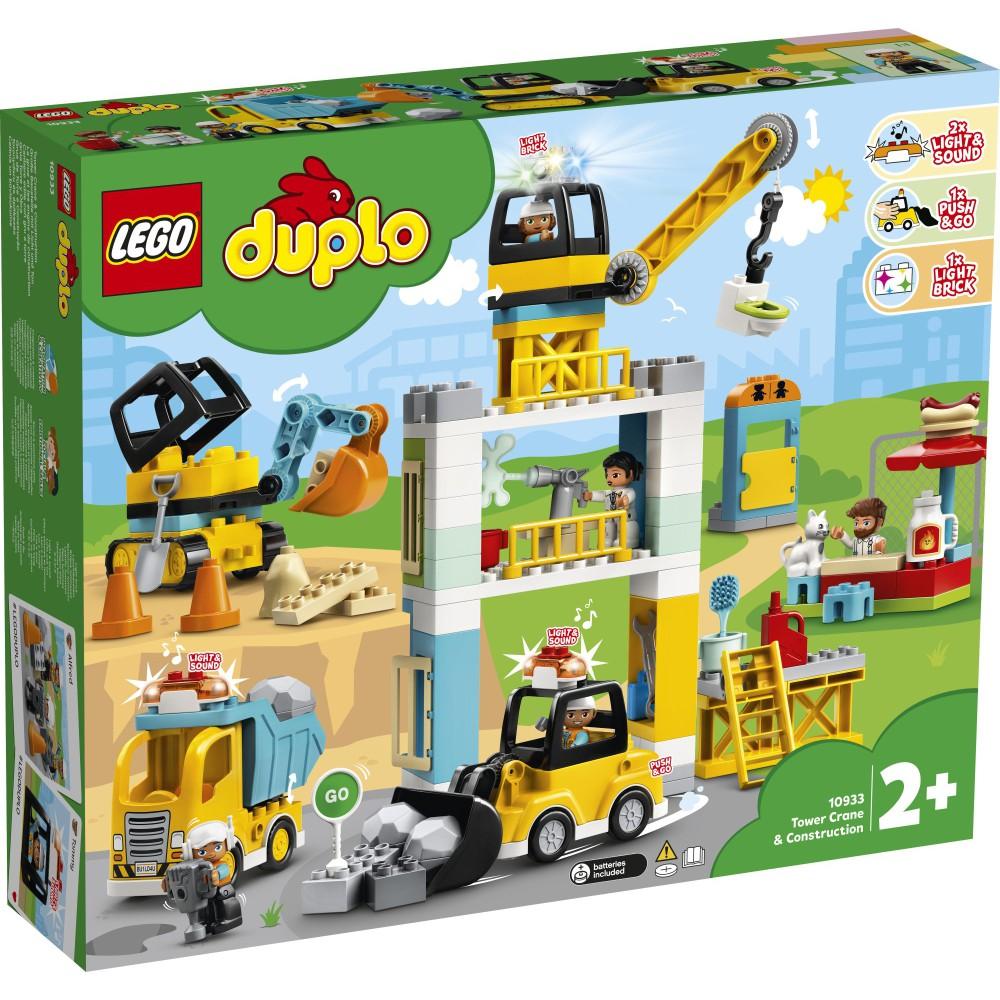 LEGO DUPLO - Żuraw wieżowy i budowa 10933