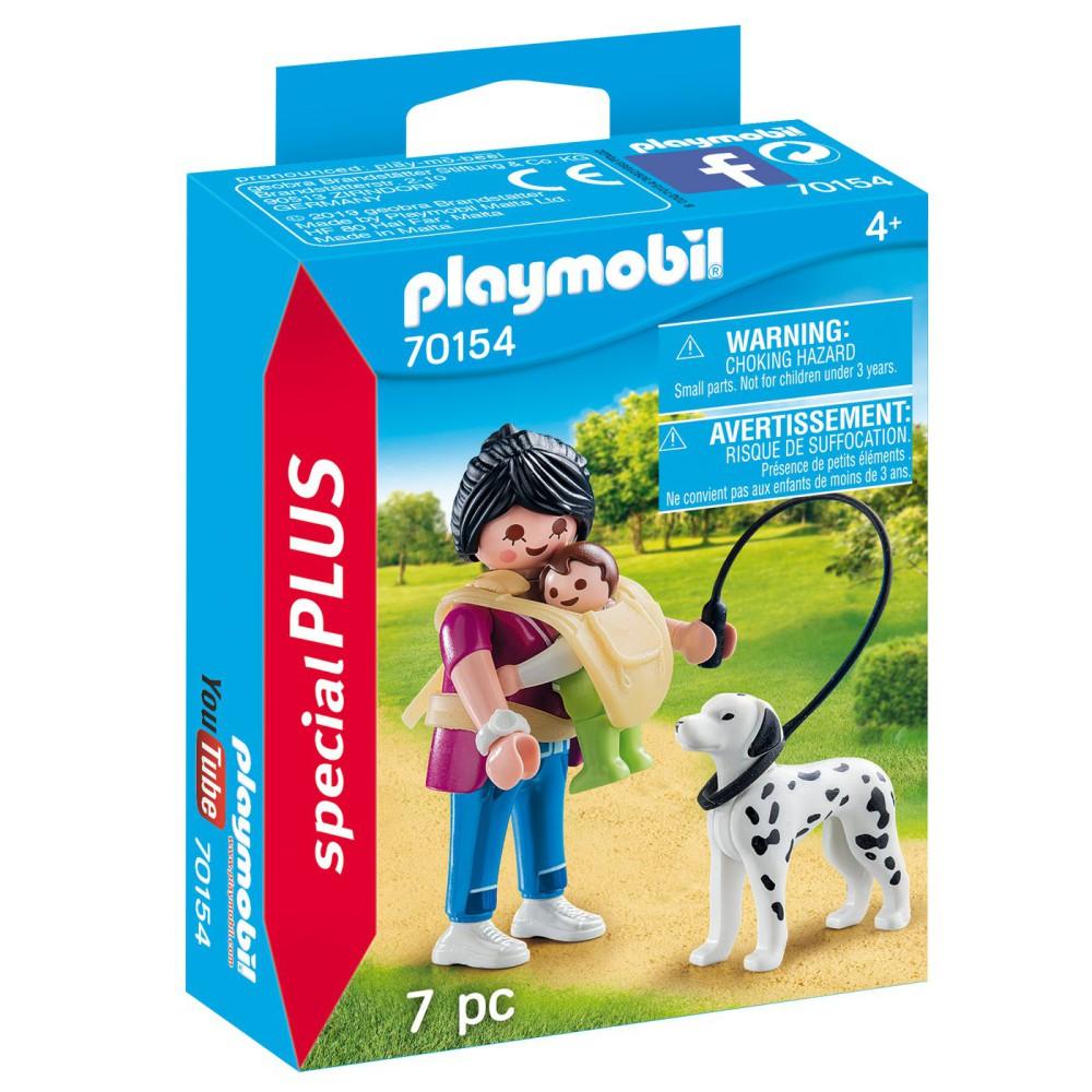 Playmobil - Mama z dzieckiem i psem 70154