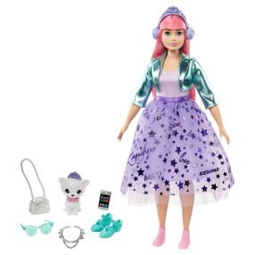 Barbie Princess Adventure - Lalka Księżniczka Daisy z kotkiem + Akcesoria GML77