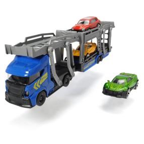 Dickie City - Zestaw Laweta z 3 samochodami Niebieska 3745008 A
