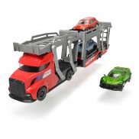 Dickie City - Zestaw Laweta z 3 samochodami Czerwona 3745008 B