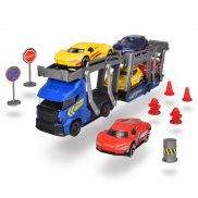 Dickie City - Zestaw Laweta z 5 samochodami + Akcesoria Niebieska 3745012 A