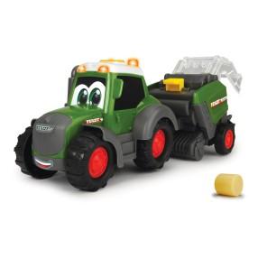 Dickie Happy - Traktor Fendt i maszyna do belowania Światło Dźwięk 3815001