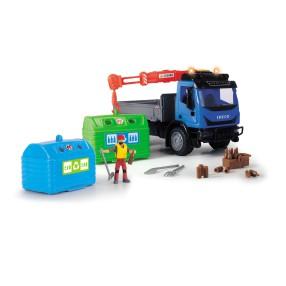 Dickie Play Life - Zestaw recyklingowy Pojazd Iveco Eurocargo + Akcesoria 3836003