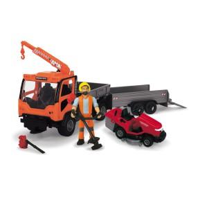 Dickie Play Life - Zestaw porządku parku miejskiego Pojazd Ladog T-1700 + Akcesoria 3838006
