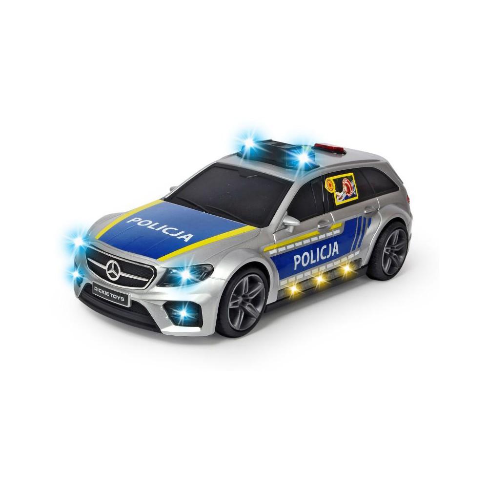 Dickie SOS - Samochód policyjny Mercedes-AMG E43 1:16 30 cm Światło Dźwięk 3716018