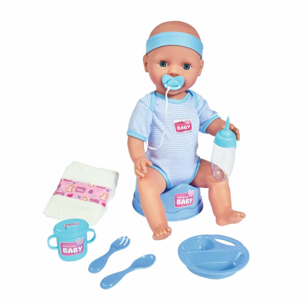 Simba New Born Baby - Lalka funkcyjna Chłopiec z akcesoriami 43 cm 5030044