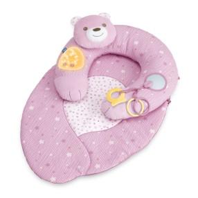Chicco First Dreams - Gniazdko z poduszką Mata 3w1 Różowa 98291