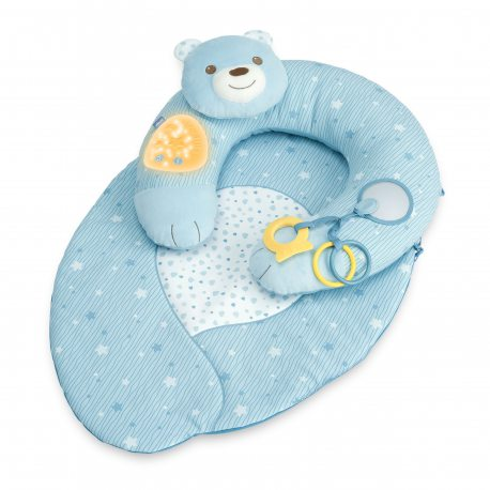 Chicco First Dreams - Gniazdko z poduszką Mata 3w1 Niebieska 98292