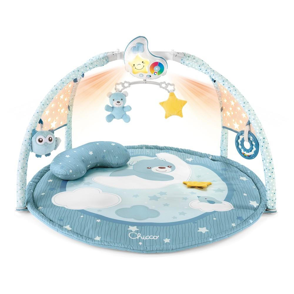 Chicco First Dreams - Mata dla niemowlaka 3w1 z melodiami i kolorowymi projekcjami Niebieska 98662