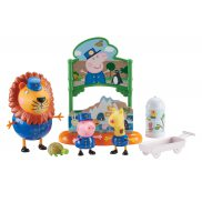 TM Toys Świnka Peppa - Zestaw Dzień w Zoo 3 Figurki + Akcesoria 07173