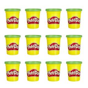 Play-Doh - Ciastolina Tuby uzupełniające 12-pak Zielony E4828
