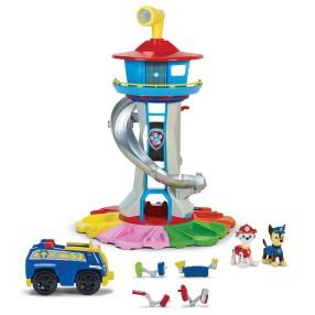 Psi Patrol - Duża Wieża Baza Psiego Patrolu ze zjeżdżalnią + 2 Figurki i Pojazd Chase 6037842