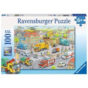 Ravensburger - Puzzle XXL Pojazdy w mieście 100 elem. 105588