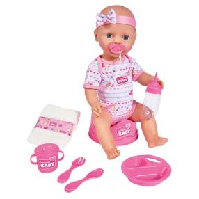 Simba New Born Baby - Lalka funkcyjna Dziewczynka z akcesoriami 43 cm 5039005