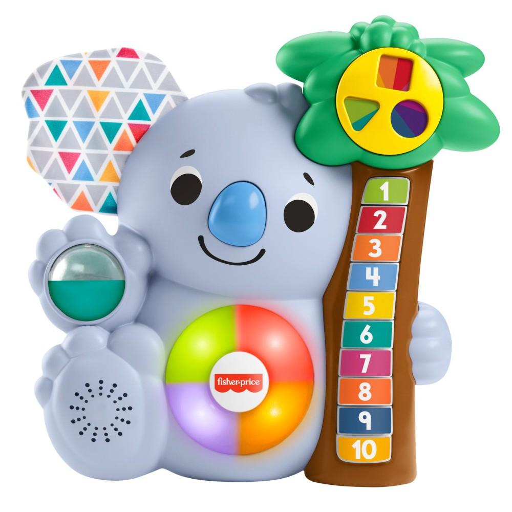 Fisher-Price Linkimals - Interaktywny Miś Koala ze światełkami i dźwiękami wer. PL GRG64