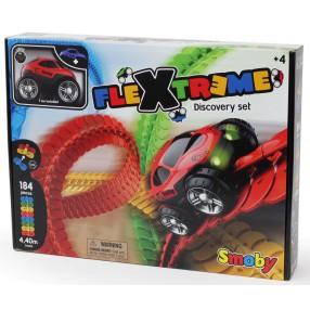 Smoby Flextreme - Tor samochodowy + Autko ze światłem Zestaw startowy 180902