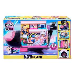 L.O.L. SURPRISE - Samolot 4w1 dla lalek O.M.G. Remix LOL i 50 niespodzianek 571339