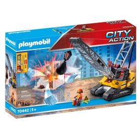 Playmobil - Koparka linowa z elementem konstrukcyjnym 70442