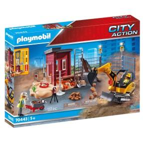Playmobil - Mała koparka z elementem konstrukcyjnym 70443