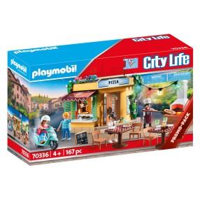 Playmobil - Pizzeria z ogródkiem restauracyjnym 70336