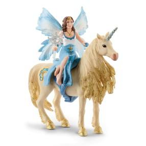 Schleich Świat Elfów Bayala - Eyela na złotym jednorożcu 42508