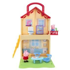 TM Toys Świnka Peppa - Rozkładany Domek Peppy Walizka + 2 Figurki 00700