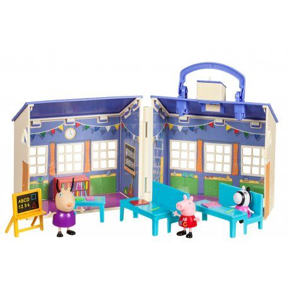 TM Toys Świnka Peppa - Duży Rozkładany Zestaw Szkoła + 3 figurki 92608