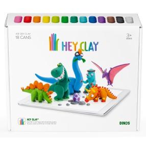 Hey Clay - Masa plastyczna Dinozaury HCLSE006